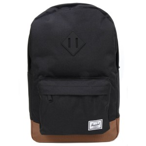 Herschel Sac à dos Heritage Mid Volume black/saddle brown [ Soldes ]