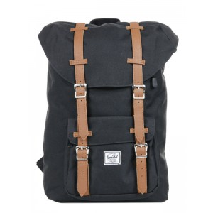 Herschel Sac à dos Little America Mid Volume black/tan Pas Cher