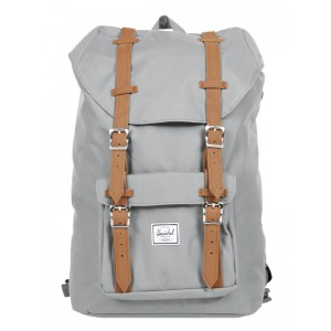Herschel Sac à dos Little America Mid Volume grey/tan Pas Cher