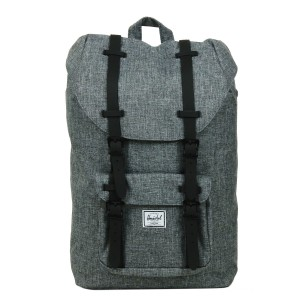 Herschel Sac à dos Little America Mid Volume raven crosshatch/black rubber Pas Cher