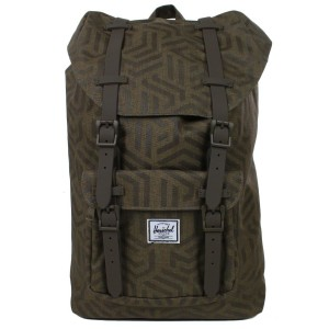 Herschel Sac à dos Little America Mid Volume metric/black rubber Pas Cher