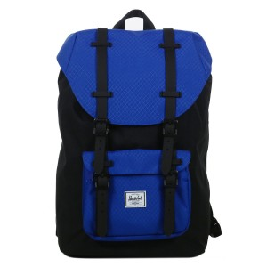 Herschel Sac à dos Little America Mid Volume black/surf the web/black rubber [ Promotion Black Friday 2020 Soldes ]