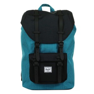 Herschel Sac à dos Little America Mid Volume ocean depths grid/black/black rubber [ Soldes ]