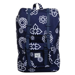 Herschel Sac à dos Little America Mid Volume peacoat paisley print/peacoat rubber [ Soldes ]