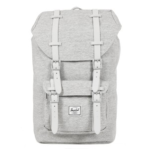 Herschel Sac à dos Little America Mid Volume light grey crosshatch/grey rubber Pas Cher