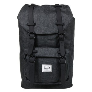 Herschel Sac à dos Little America Mid Volume black crosshatch/black rubber Pas Cher