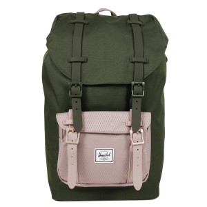 Herschel Sac à dos Little America Mid Volume forest night/ash rose Pas Cher