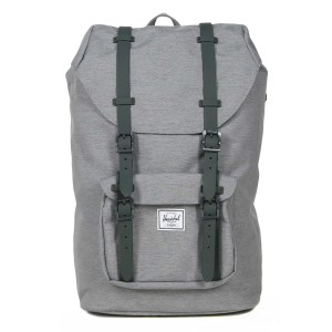 Herschel Sac à dos Little America Mid Volume mid grey crosshatch Pas Cher