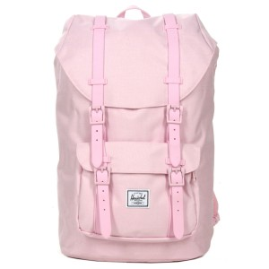 Herschel Sac à dos Little America Mid Volume pink lady crosshatch Pas Cher