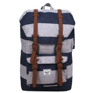 Herschel Sac à dos Little America Mid Volume border stripe/saddle [ Soldes ]