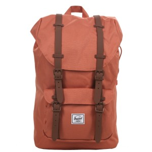 Herschel Sac à dos Little America Mid Volume apricot brandy/saddle brown Pas Cher