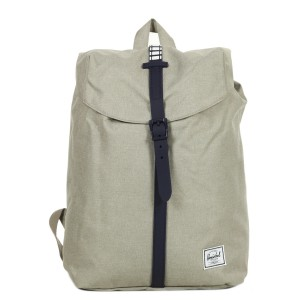 Herschel Sac à dos Post Mid Volume light khaki crosshatch/peacoat rubber/white inset [ Soldes ]