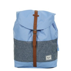 Herschel Sac à dos Post Mid Volume hydrangea/dark chambray crosshatch/tan Pas Cher
