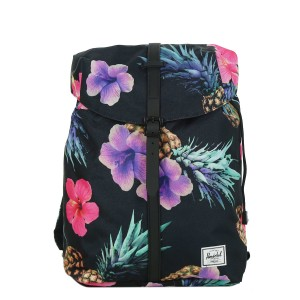 Herschel Sac à dos Post Mid Volume black pineapple/black rubber [ Soldes ]