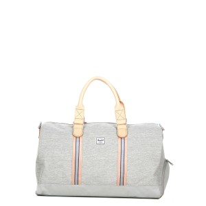 Herschel Sac de voyage Novel Offset 52 cm light grey crosshatch/high rise Pas Cher