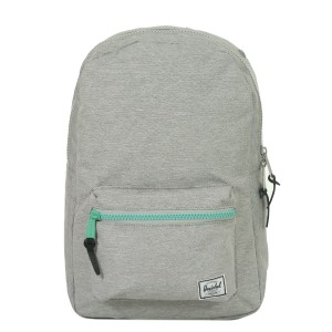 Herschel Sac à dos Settlement Mid Volume light grey crosshatch/lucite green zip [ Promotion Black Friday 2020 Soldes ]