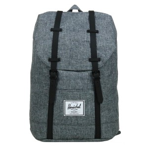 Herschel Sac à dos Retreat raven crosshatch/black rubber [ Promotion Black Friday 2020 Soldes ]