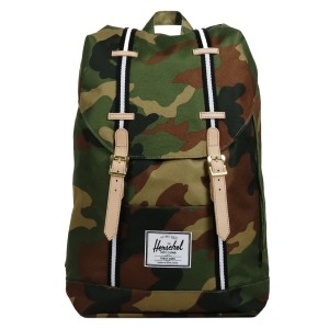 Herschel Sac à dos Retreat Offset woodland camo/black/white Pas Cher