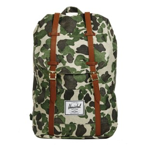 Herschel Sac à dos Retreat frog camo/tan synthetic leather [ Soldes ]
