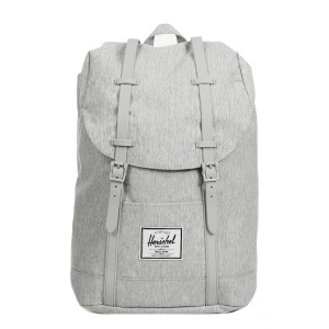 Herschel Sac à dos Retreat light grey crosshatch Pas Cher