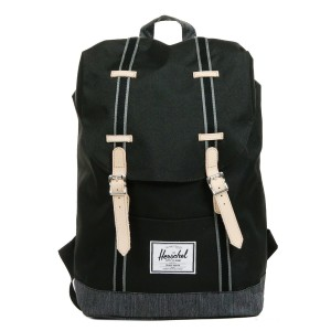 Herschel Sac à dos Retreat Offset black/black denim Pas Cher