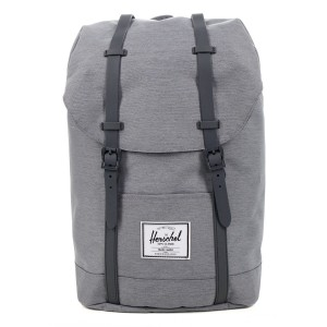 Herschel Sac à dos Retreat mid grey crosshatch Pas Cher