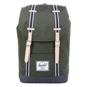 Herschel Sac à dos Retreat Offset forest night/ dark denim Pas Cher
