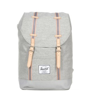 Herschel Sac à dos Retreat Offset light grey crosshatch/high rise Pas Cher