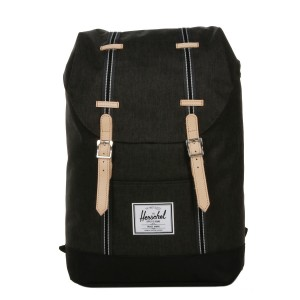 Herschel Sac à dos Retreat Offset black crosshatch/black [ Promotion Black Friday 2020 Soldes ]