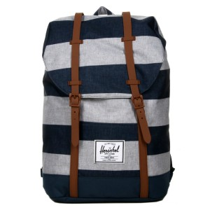 Herschel Sac à dos Retreat border stripe/saddle [ Soldes ]