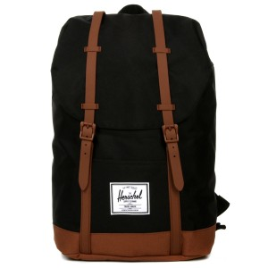 Herschel Sac à dos Retreat black/saddle brown Pas Cher