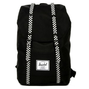 Herschel Sac à dos Retreat black/checkerboard Pas Cher
