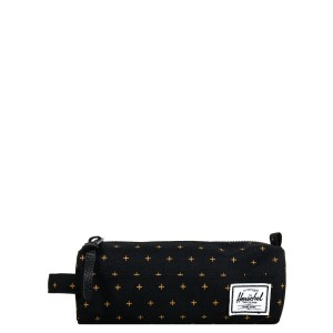 Herschel Trousse Settlement Case black gridlock gold [ Promotion Black Friday 2020 Soldes ]