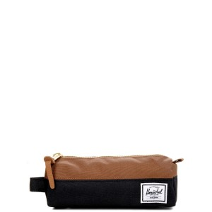 Herschel Trousse Settlement Case black/saddle brown [ Soldes ]