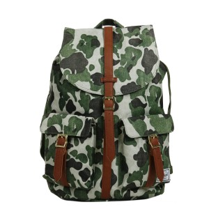 Herschel Sac à dos Dawson frog camo/tan synthetic leather Pas Cher