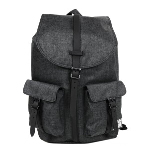 Herschel Sac à dos Dawson black crosshatch/black rubber Pas Cher