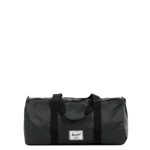 Herschel Sac de voyage Sutton Mid Volume 47.5 cm black crosshatch/black rubber Pas Cher