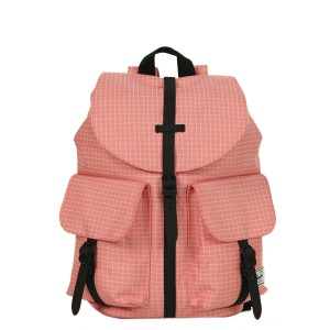 Herschel Sac à dos Dawson X-Small strawberry ice grid/black rubber Pas Cher