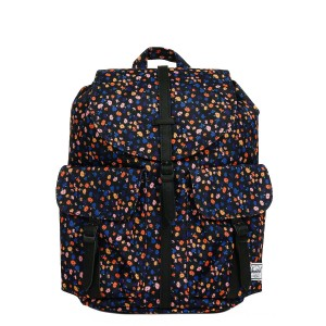 Herschel Sac à dos Dawson X-Small black mini floral/black synthetic leather Pas Cher