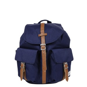Herschel Sac à dos Dawson X-Small peacoat/tan synthetic leather Pas Cher