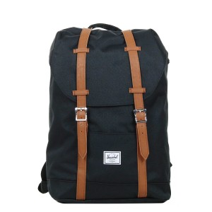 Herschel Sac à dos Retreat Mid-Volume black/tan Pas Cher