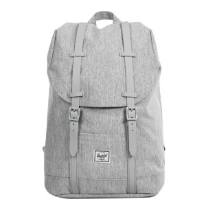 Herschel Sac à dos Retreat Mid-Volume light grey crosshatch/grey rubber Pas Cher