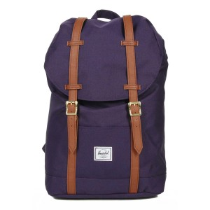 Herschel Sac à dos Retreat Mid-Volume purple velvet Pas Cher