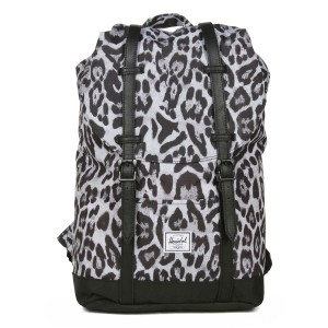 Herschel Sac à dos Retreat Mid-Volume snow leopard/ black Pas Cher