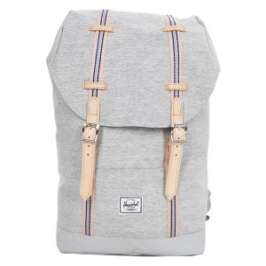 Herschel Sac à dos Retreat Mid-Volume Offset light grey crosshatch/high rise Pas Cher