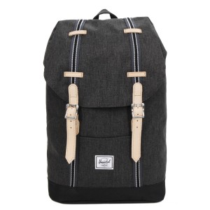 Herschel Sac à dos Retreat Mid-Volume Offset black crosshatch/black Pas Cher