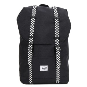 Herschel Sac à dos Retreat Mid-Volume black/checkerboard Pas Cher