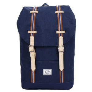 Herschel Sac à dos Retreat Mid-Volume Offset medieval blue crosshatch/medieval blue Pas Cher