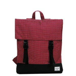 Herschel Sac à dos Survey windsor wine grid/black Pas Cher