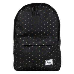 Herschel Sac à dos Classic Mid-Volume black gridlock gold [ Promotion Black Friday 2020 Soldes ]